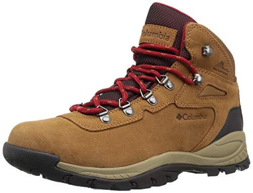 Columbia Women's Newton Ridge Plus Hiking Boot, Elk/Mountain Red, 8.5 Regular US