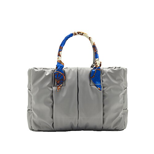 VOUS Designer Diaper Bag Eiffel Tower Grey Medium+Chain City Scarf, The Most Fashionable, Lightweight, and Functional Diaper Bag for Stylish Mom
