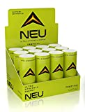 NEU Extra Strength Nootropic Energy Shots, Energy Drink: Brain Booster Focus Supplement, Coffee Alternative Nutritional Drink + Pre Workout with Zero Sugar - Tropical Punch 2oz (12 pack)