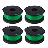 Winsummer 4 Pack Trimmer Replacement Spools Compatible with Black and Decker SF-080 GH3000 LST540