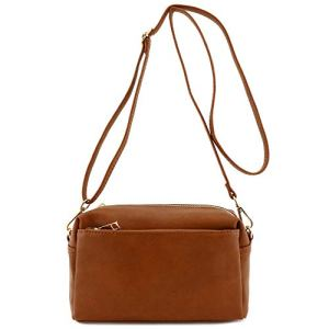 Triple Zip Small Crossbody Bag 7 Fashion Online Shop Gifts for her Gifts for him womens full figure