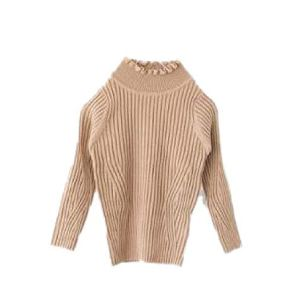 BCVHGD Kids Sweaters Winter Turtleneck Ruched Collar Bottoming Tops Cotton Toddlers Girls Knitting Pullovers