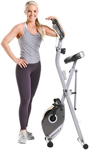 Exerpeutic Folding Magnetic Upright Exercise Bike with Pulse, 31.0' L x 19.0' W x 46.0' H (1200) 10