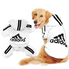 Scheppend-Original-Adidog-Big-Dog-Large-Clothes-Sport-Hoodies-Sweatshirt-Pet-Winter-Coat-Retriever-Outfits-White-7XL