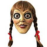 Annabelle Mask Halloween Horror Cosplay Fancy Dress Costume Outfit Adults Latex