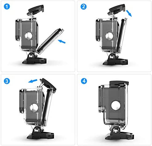 Kupton Waterproof Housing Case Compatible with GoPro HERO9 Black, 60M/196FT Underwater Protective Diving Case Shell with Bracket Mount Accessories Compatible with Hero 9 New Hero 2020