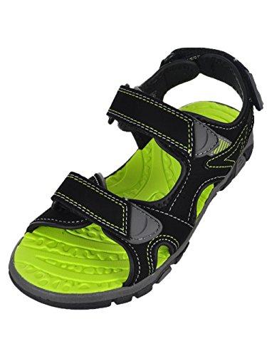 Khombu Boy's River Sandal Black/Neon Green (2)
