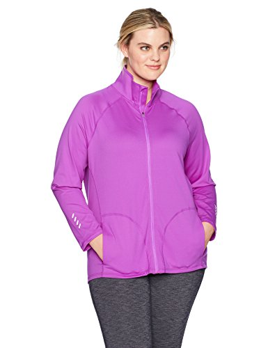 Just My Size Women's Plus Size Active Full-Zip Mock Neck Jacket 1 Fashion Online Shop Gifts for her Gifts for him womens full figure
