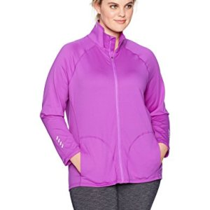 Just My Size Women's Plus Size Active Full-Zip Mock Neck Jacket 5 🛒 Fashion Online Shop gifts for her gifts for him womens full figure