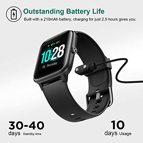 """Letsfit Smart Watch, Fitness Tracker with Heart Rate Monitor, Activity Tracker with 1.3"""" Touch Screen, IP68 Waterproof Pedometer Smartwatch with Sleep Monitor, Step Counter for Women and Men 8"""