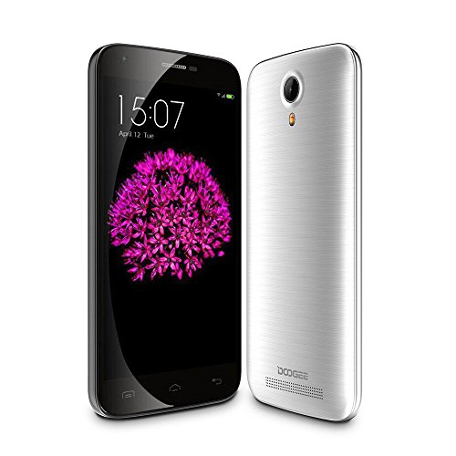 DOOGEE Valencia 2 Y100 Pro 5 Inch 720P Quad Core 64 bit Android 5.1 Unlocked GSM 4G HSPA+ Smartphone 13MP CAM 2GB RAM 16GB ROM - AT&T/ T-Mobile/Cricket/MetroPCS(Silver)
