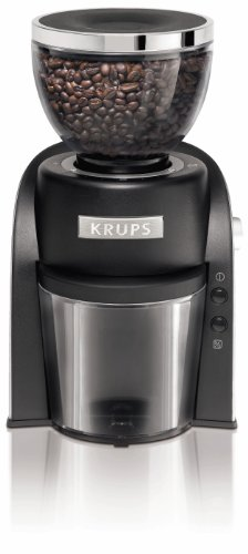 KRUPS GX6000 Burr Coffee Grinder with Grind Size and Cup Selection, 8-Ounce, Black