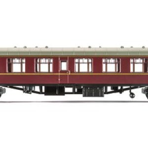Hornby OO Gauge 270mm Railroad BR Mk1 Corridor Second Coach Model (Maroon) 41zkCReOSTL