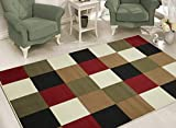 sweethome BCF1639-8X10 Boxes Design Area Rug, 7'10' x 9'10', Multicolor