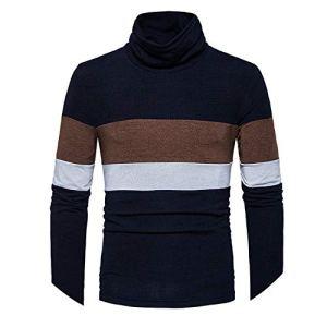 Amazing-cool and Winter Men Slim Turtleneck Fashion Individuality Men Fashion Sleeves Knitwear