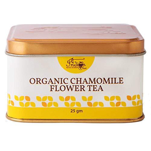 The Indian Chai – Organic Chamomile Tea for Sleep, Stress and Anxiety, Caffeine Free (25g, 30 cups)