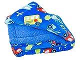 Elegant Home Kids Soft & Warm Cars Trucks Buses Sherpa Baby Toddler Boy Sherpa Blanket Multicolor Printed Borrego Stroller or Toddler Bed Blanket Plush Throw 40X50# Car