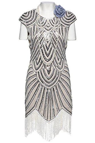 BABEYOND Women's Flapper Dresses 1920s Beaded Fringed ...