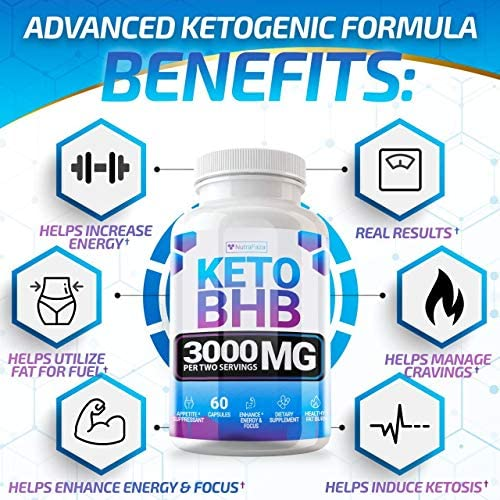 Keto Pills - (2 Pack | 120 Capsules) - 5X Potent - Advanced Keto Burn Diet Pills - Best Exogenous Ketones BHB Supplement for Women and Men - Boost Energy and Metabolism - 100% Vegan 4