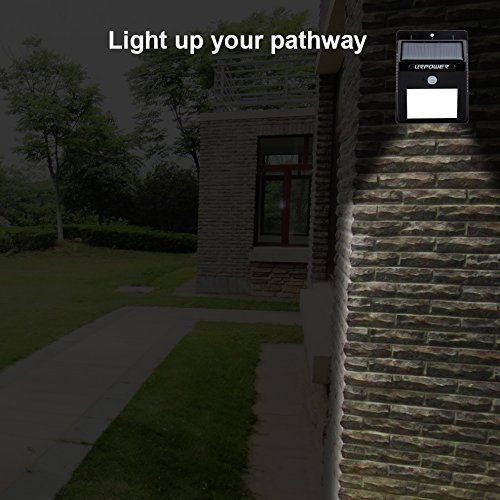 URPOWER-Solar-Lights-8-LED-Wireless-Waterproof-Motion-Sensor-Outdoor-Light-for-for-Patio-Deck-Yard-Garden-with-Motion-Activated-Auto-OnOff-4-Pack