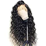 13x6 Lace Front Wig Loose Wave Deep Part Human Hair Wigs with Baby Hair Lace Front Wigs for Black Women 130% Density Natural Color 16 inch