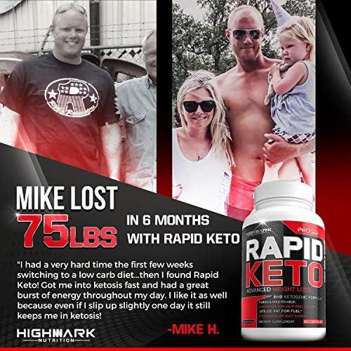 Rapid Keto Diet Pills | Advanced Ketogenic Diet Weight Loss Supplement | BHB Salts Exogenous Ketones Capsules for Men & Women | Fast & Effective Ketosis Diet Fat Burner | Instant Keto Boost | 60 8
