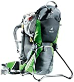 Deuter Kid Comfort Air Child Carrier for Hiking, Granite/Emerald