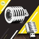 Zehui 2W Portable Mini USB LED Spotlight Lamp Mobile Power Flashlight