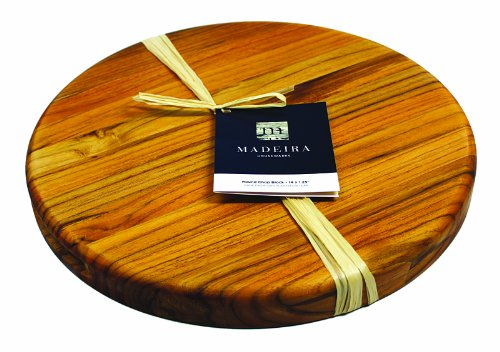 Madeira Cutting Board and Chop Block, Teak Edge-Grain, 14' Round