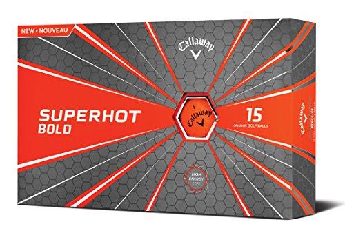 Callaway Golf Superhot Bold Matte Golf Balls (Pack of 15), Orange