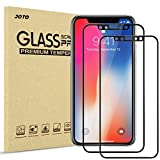 iPhone XS/iPhone X Screen Protector, JOTO Full Screen Tempered Glass Screen Protector Film, Edge to Edge Protection Screen Cover Saver Guard for Apple iPhone Xs 2018 / iPhone X 2017 (2-Pack, Black)