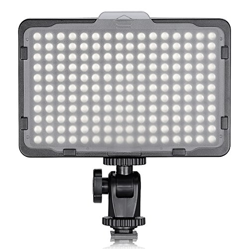 Neewer on Camera Video Light Photo Dimmable 176 LED Panel with 1/4″ Thread for Canon, Nikon, Sony and Other DSLR Cameras, 5600K (Battery Not Included)