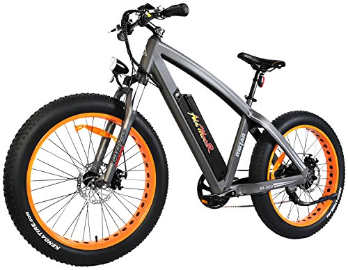 Addmotor MOTAN Electric Bike Mountain 26 inch Fat Tire Electric Power Bicycle With Removable 48V 10.4AH Lithium Battery M-560 Ebikes(Orange)