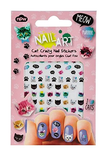 NPW Nail Art Stickers, Various Sizes, Cat Crazy