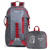 TOURIT Lightweight Packable Travel Hiking Backpack Foldable Daypack Waterproof Back Packs for Hiking, Large Capacity 35L for Men Women to Picnics Sport Outdoor