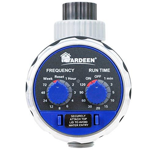 Yardeen Water Timer Electronic Hose Sprinkler Garden Irrigation Controller Two Dial Color Blue