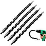 Acrux7 Screwdriver & Drill Bit Extension Flexible Shaft, 11.8 inch (30cm) / 3 pack, Flexible Gooseneck Double Sided Drill Adapter Holder for Hand & Power Electric Driver