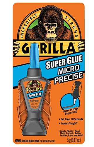 Gorilla 6770002 Micro Precise Super Glue, 1 Pack, Clear