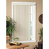 All Strong USA Vertical Alabaster Textured Window Blind 70-79 Inches Alabaster 72 x 64
