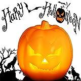 Jack O' Lantern, Halloween Pumpkin Decor Lantern with Battery Operated & Adjustable Timer Function for Halloween Decorations by HANPURE (Pumpkin Orange)