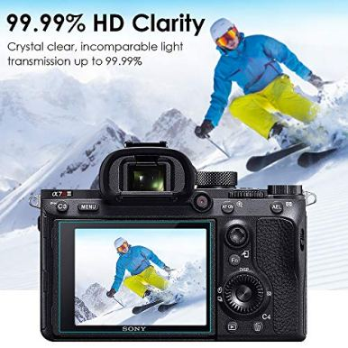 Screen-Protector-Compatible-with-Sony-Alpha-a7RIII-a7RIV-A7R3-A9-A7RII-A7SII-A77II-RX100-Camera-QIBOX-Tempered-Glass-Screen-Guard-Full-Coverage-Edge-to-Edge3-Pack