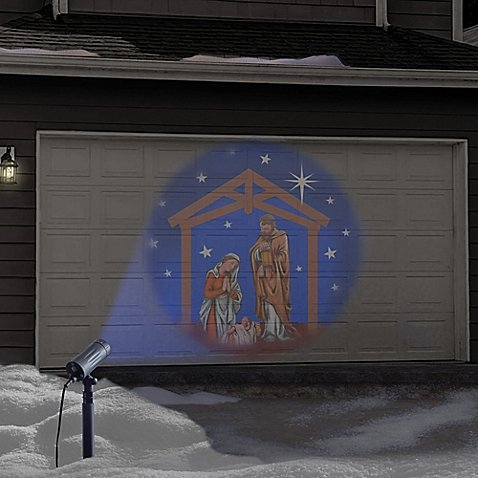 Winter Wonderland Holiday Nativity Set LED Projector