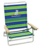 Tommy Bahama 5 Position Classic Lay Flat Beach Chair Green Stripe