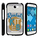 Case for Alcatel One Touch Fierce 2 7040T , Ultra Slim Cover Slim Fitted Skinny Protector with Unique Graphic Images Pop Icon A564C, From TURTLEARMOR | 2 in 1 Combo Includes Clear Screen Protector and Case - Rental Tag