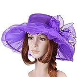 Vbiger Ketucky Derby Hats Church hats Large Wide Brim Gauze Hat For Women