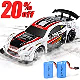 NQD Remote Control Car RC Car 1: 14 Electric Racing Drift RC Car 4WD High Speed Vehicle Toys 2.4Ghz Radio Remote Control Car Best Gift for Boys Dual Battery Upgraded Version (White)