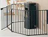 Bebemooi® Baby Safety Fence BBQ Fire Gate Fireplace Metal Plastic Baby Safety Gate With Door