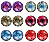 LilMents 6 Pairs of Mystic Magic Circle Astrological Unisex Mens Womens Stainless Steel Stud Earrings
