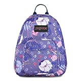 JanSport Half Pint Mini Backpack - Ideal Day Bag for Travel & Sightseeing | Blue Liana Vines