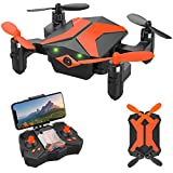 Attop Mini Drones with Camera - Portable Foldable FPV Drone with Camera for Kids & Beginners, Mini RC Drones w/Gravity Control/Voice Control/Trajectory Flight/AR Game/Altitude Hold/App Control